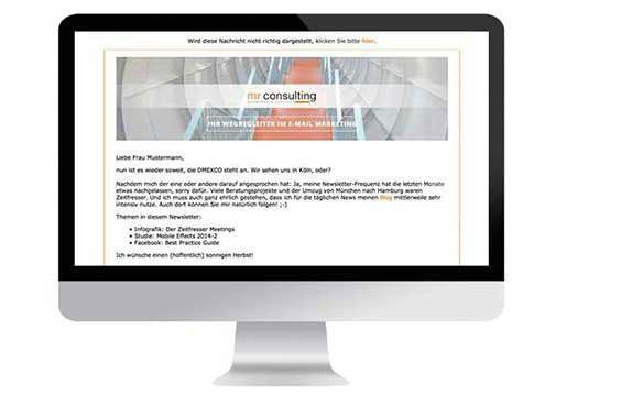 Kundenprojekt mr consulting – marketing & response – Teil 2