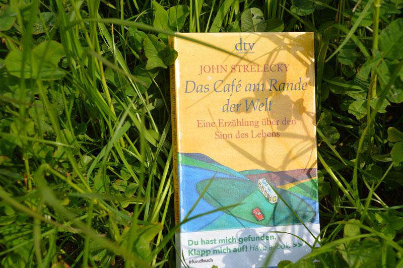 Das Fundbuch »Das Cafe am Rande der Welt« wurde ausgesetzt und gehört zu unserer Bücheraktion 15 Jahre phase grün
